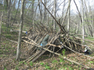 Natural survival shelter
