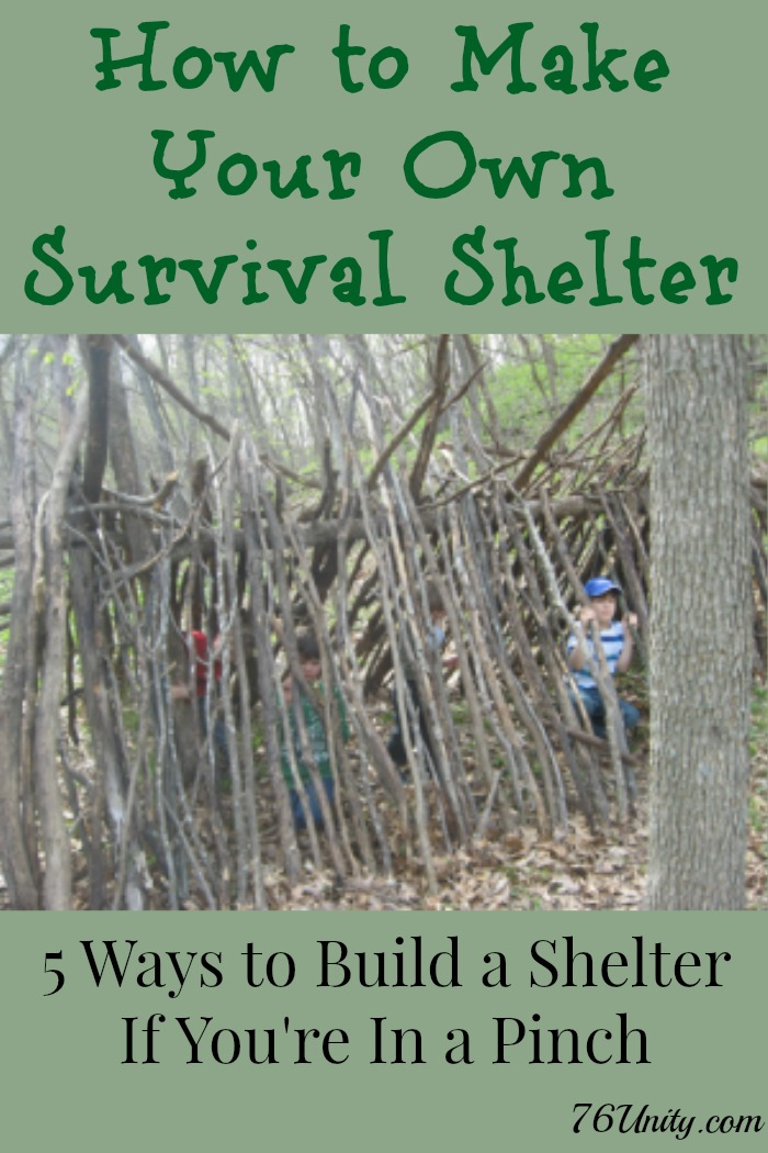 Survival Shelters: 5 Ways to Build Your Own
